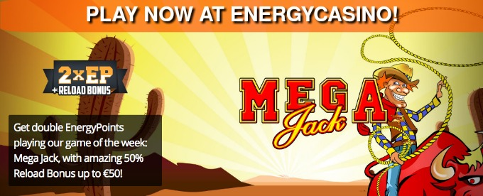 Get Double points and Reload bonus at EnergyCasino