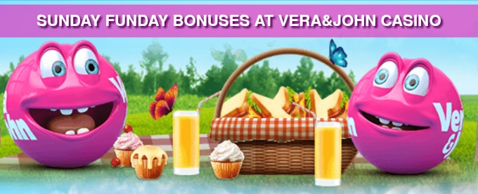 Get up to £250 Sunday Funday bonuses at Vera&John casino