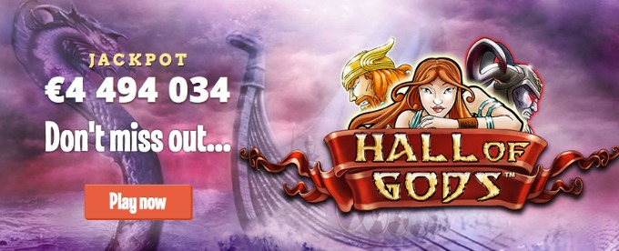 Play Hall Of Gods at LeoVegas Casino Now