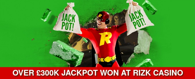 Mega Jackpot win at Rizk Casino
