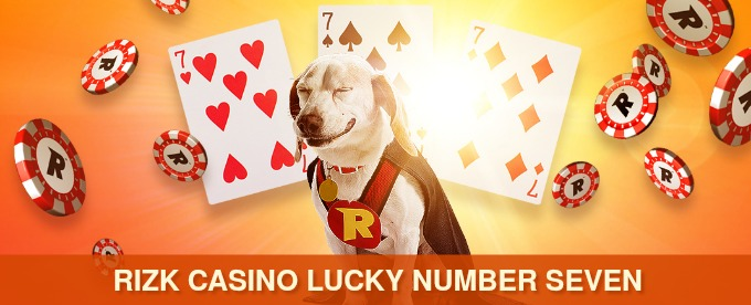 Win x100 your bet with 3 lucky Sevens at Rizk Casino
