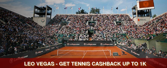 Get tennis cashback from LeoVegas Sports