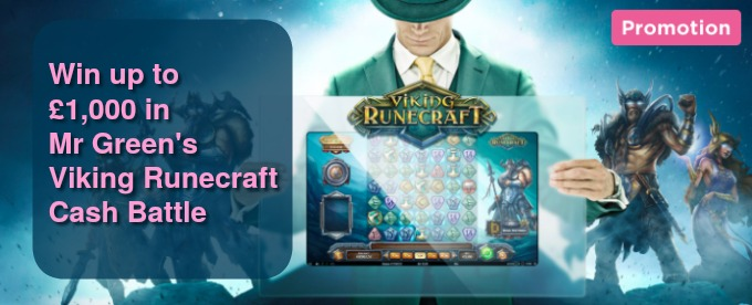 Join Mr Green Casino Viking Runecraft Cash Battle