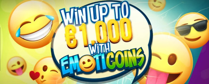 Win extra cash with the new Emoticoins slot