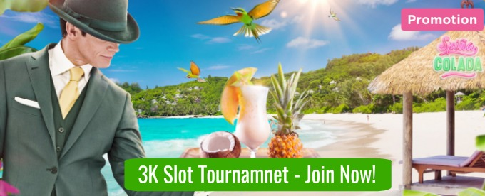Win up to €750 at Mr Green Spina Colada Tournament