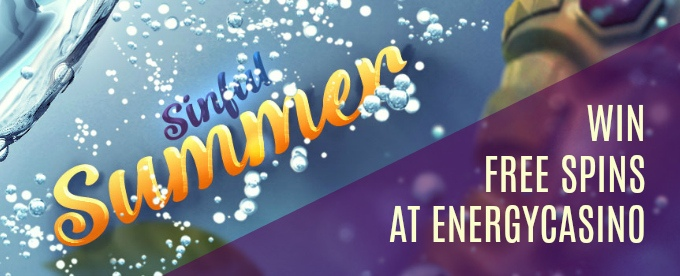 Win up to 130 Free Spins with EnergyCasino Sinful Summer offer