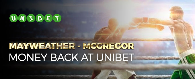 Get money back on Mayweather vs McGregor at Unibet