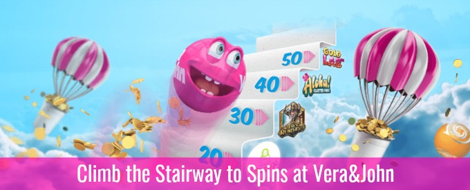 Win up to 140 Bonus spins at Vera&John