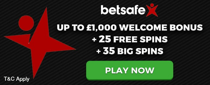Get Betsafeup to £1,000 welcome bonus