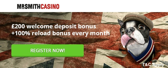 mr smith casino grab your welcome bonus