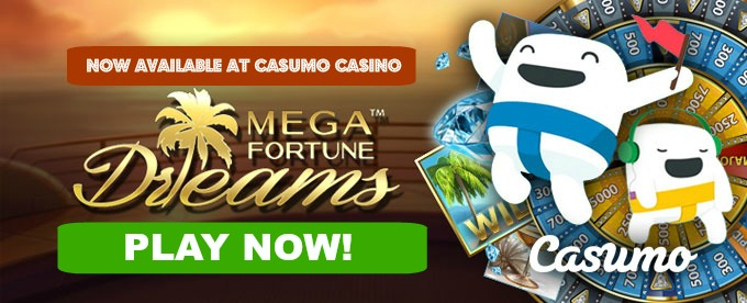 Play Mega Fortune Dreams slot at Casumo casino
