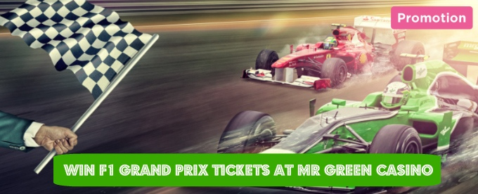 Win F1 Grand Prix tickets at Mr Green Casino