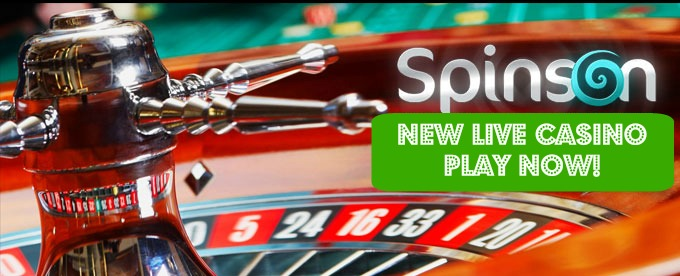 Play brand new Live Casino at Spinson