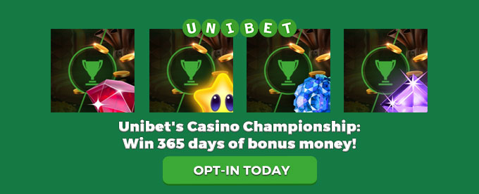 Opt-in today with Unibet casino!