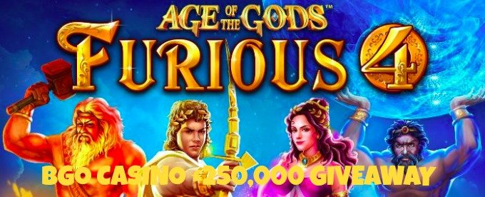 Bgo casino is giving away £250K on Age of Gods slots