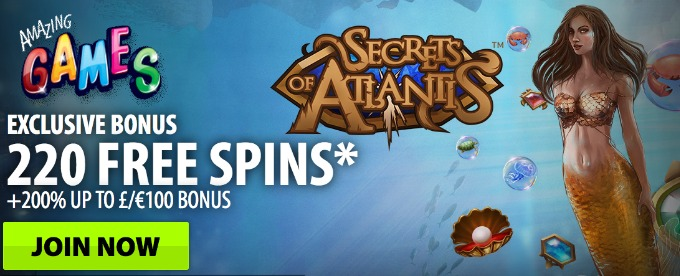 Get Free Spins for Secrets of Atlantis at bgo casino