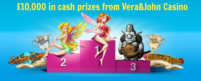£10,000 in cash prizes for Vera&John casino tournament