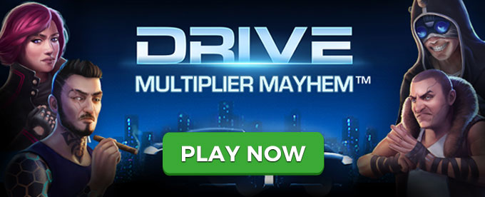 Play Drive: Multiplier Mayhem slot at Casumo casino