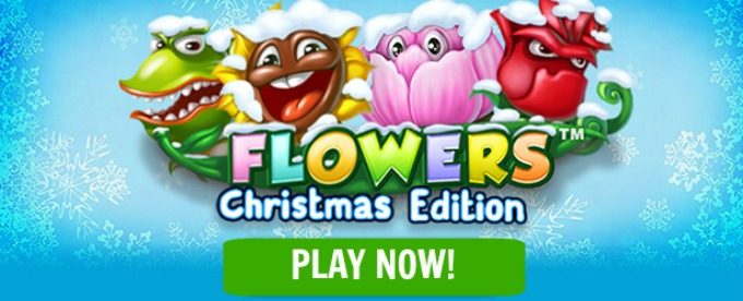 Play Flowers Christmas Edition slot at LeoVegas casino