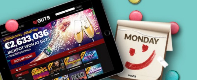 Get Double deal on Mondays at Guts casino