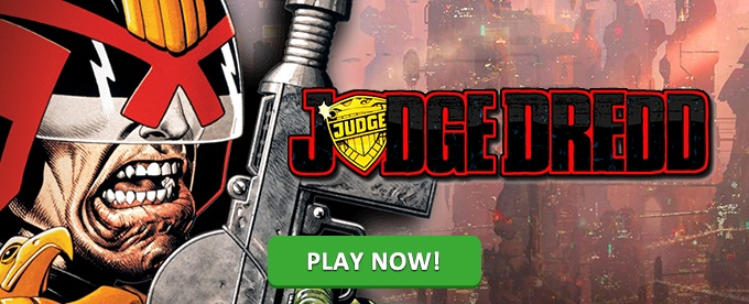 Play Judge Dredd slot on InstaCasino
