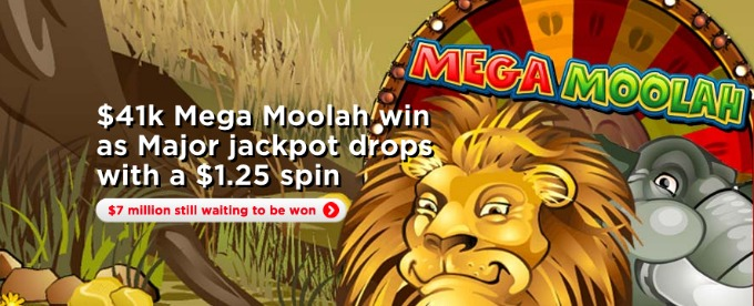 Play Mega Moolah on Royal Panda Casino