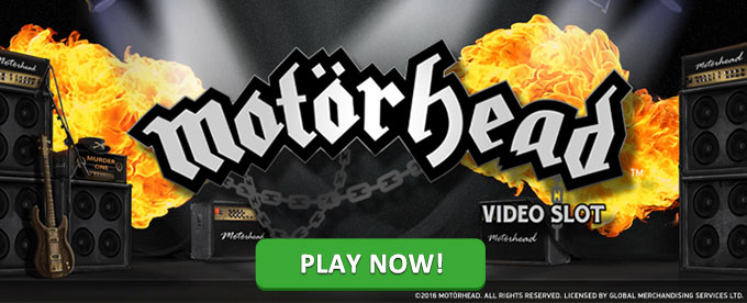 Play Motörhead slot at Casumo casino