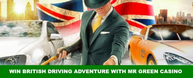 Win a British Driving Adventure with Mr Green Casino
