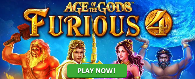Play Age of the Gods: Furious 4 slot at Ladbrokes casino