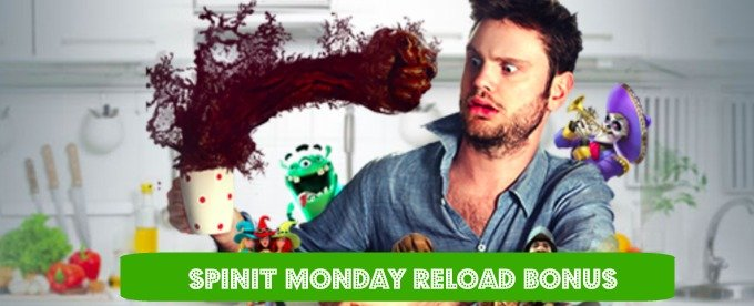Up to £100 Monday Reload Bonus is available from SPiNiT casino.