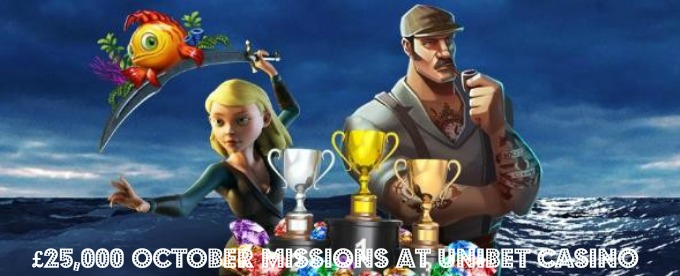 Win a share of £25,000 with Unibet Casino October Missions
