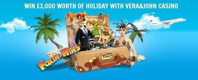 Win £3000 holiday fun at Vera&John casino