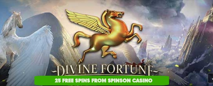 Get 25 Free Spins at Spinson Casino for Divine Fortune Slot