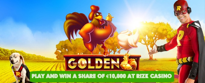 Play NYX Golden Slot Game At Rizk Online Casino