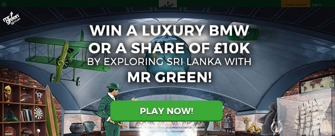 Play with Mr Green now!