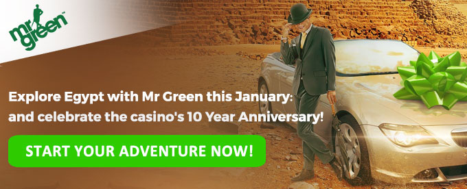 Start your Mr Green Adventure Now!