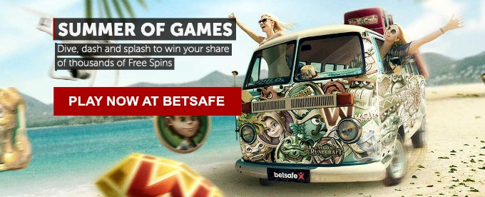 Play at Betsafe Sumer games and win cash and free spins