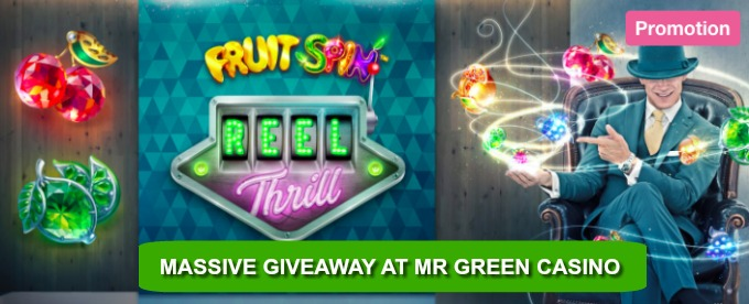 Win Fruity free spins and cash at Mr Green Casino