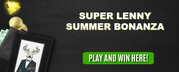 Join SuperLenny casino for Summer Bonanza prizes