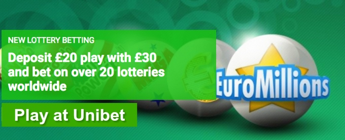Try new Lottery Betting at Unibet