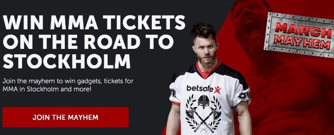 Win tickets to MMA Stockholm at Betsafe casino