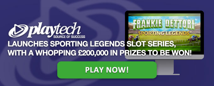 Play Frankie Dettori Sporting Legends slot now