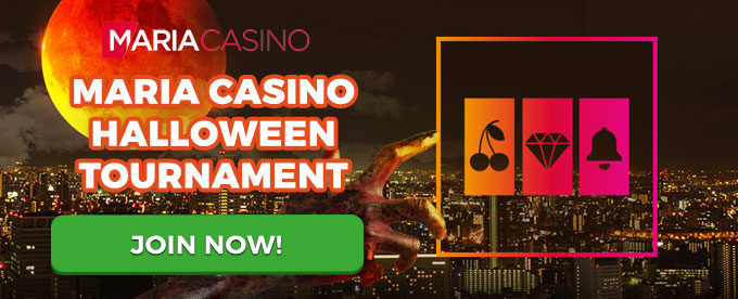 Maria Casino – win £5,000 worth of prizes this Halloween