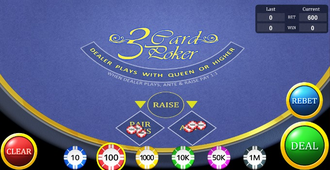 Play 3 card poker online free