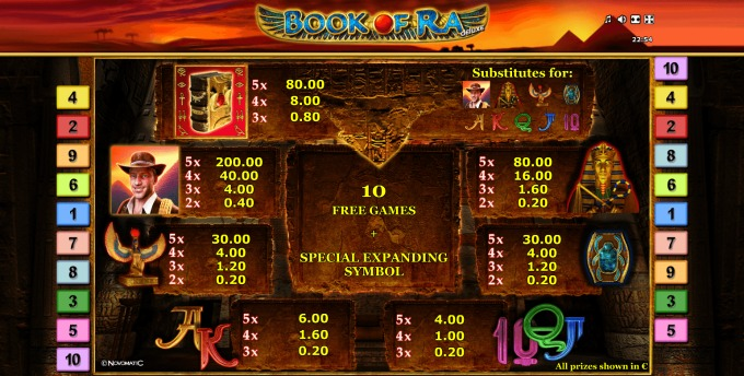 Play Book of Ra deluxe slot at casumo.com