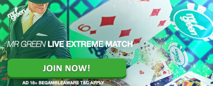 Win up to €1,500 with Live Casino EXTREME Match at Mr Green